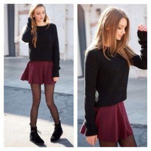 Brandy Melville Maroon Suede Skirt